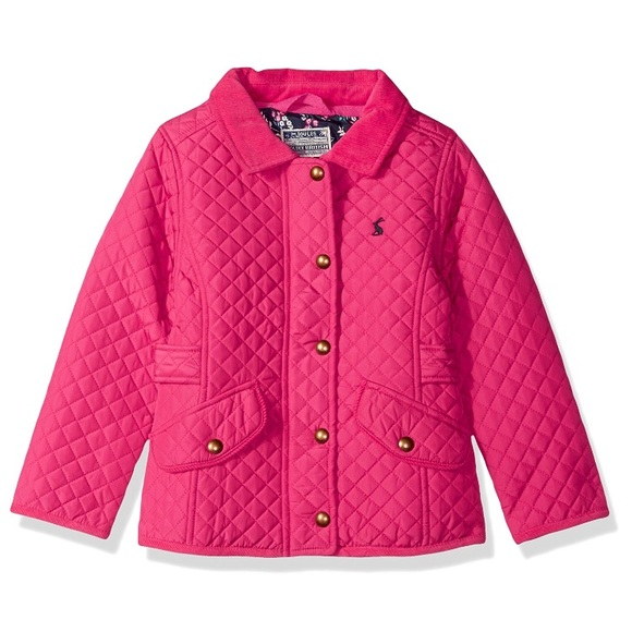 special section temperament shoes top style Joules Pink Quilted Toddler Jacket NWT NWT